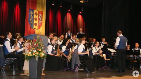 Stimmungsvolle Umrahmung des Neujahrsempfangs durch den Musikverein Worblingen.