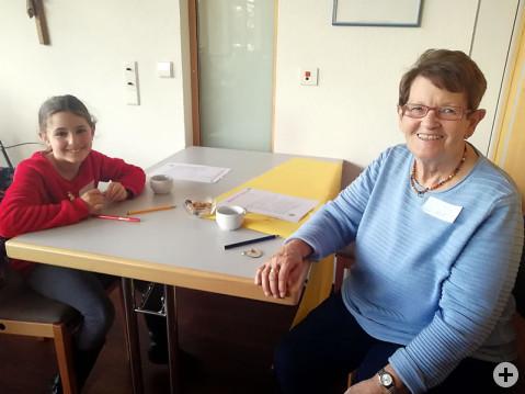 Treffen der Generationen im Pflegezentrum St. Verena.